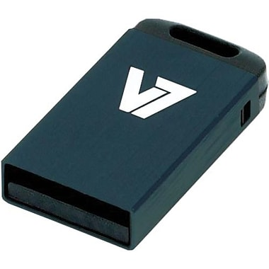 V7® VU24GCR-BLK-2N Nano USB 2.0 Flash Drive, 4GB