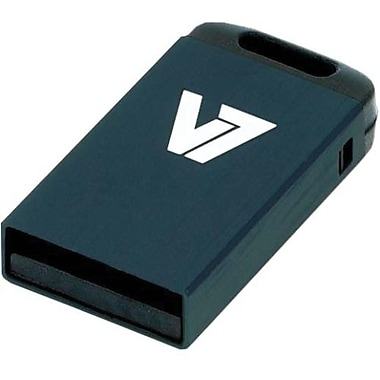 V7® VU28GCR-BLK-2N Nano USB 2.0 Flash Drive, 8GB