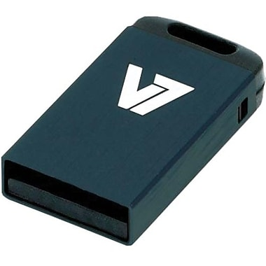 V7® VU216GCR-BLK-2N Nano USB 2.0 Flash Drive, 16GB