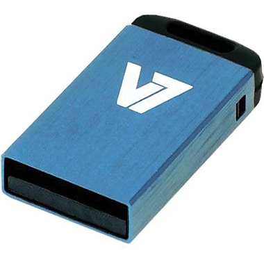 V7® VU28GCR-BLU-2N Nano USB 2.0 Flash Drive, 8GB