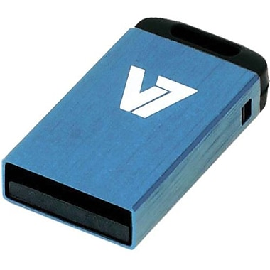 V7® VU216GCR-BLU-2N Nano USB 2.0 Flash Drive, 16GB