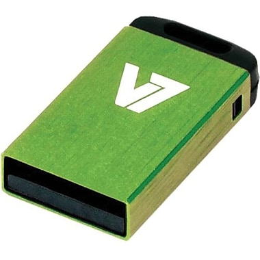V7® VU28GCR-GRE-2N Nano USB 2.0 Flash Drive, 8GB