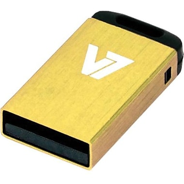 V7® VU216GCR-YLW-2N Nano USB 2.0 Flash Drive, 16GB