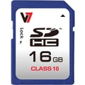 V7® VASDH16GCL10R-2N Secure Digital High Capacity Flash Memory Card, 16GB