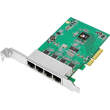 Siig® CN-GP4011-S1 4-Port Gigabit Ethernet PCIe Card