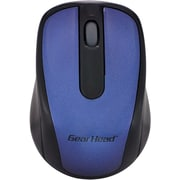 Gear Head MP2120BLU 2.4 GHz USB Wireless Optical Nano Mouse, Blue/Black