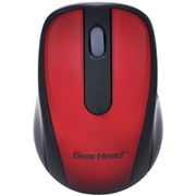 Gear Head MP2120RED 2.4 GHz USB Wireless Optical Nano Mouse, Red/Black