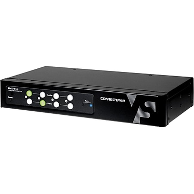 ConnectPro™ AVS-14-I Audio/Video Switch Box, 4 Ports