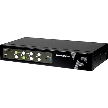 ConnectPro™ ADS-14-I Audio/Video Switch Box, 4 Ports