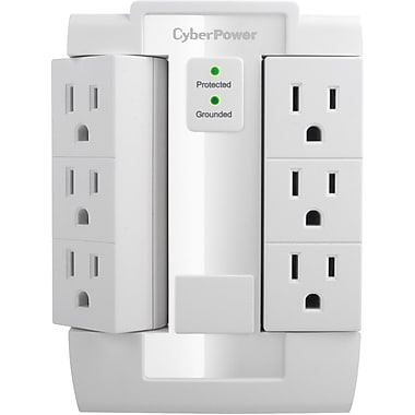 Cyberpower® CSB600WS 6-Outlet 900 Joule Essential Surge Protector