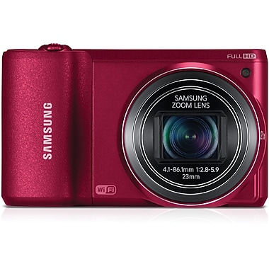 Samsung WB800F 2.4in. H x 4.2in. W x 0.9in. D Red Wi-Fi Smart Camera, 17 Mega Pixels