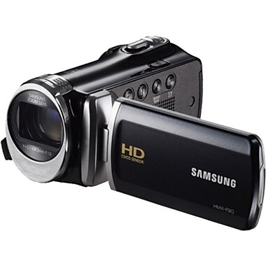 Samsung F90 52X Optimal Zoom HD Camcorder, 2.2in.(H) x 2.1in.(W) x 4.7in.(D), Black