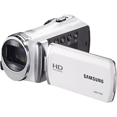 Samsung F90 52X Optimal Zoom HD Camcorder, 2.2in.(H) x 2.1in.(W) x 4.7in.(D), White