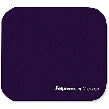 Fellowes® Microban® 0.13in.(D) Nonskid Base Natural Rubber Ultra Thin Mouse Pad, Navy Blue