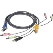 Iogear® Micro-Lite™ G2L5302U Bonded All-in-One USB KVM Cable, 6'(L)