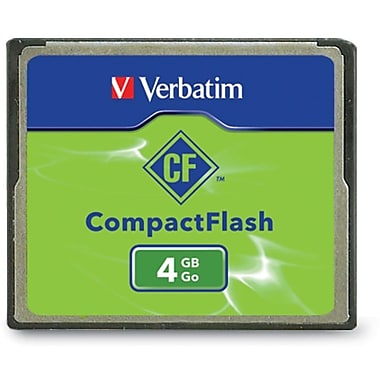 Verbatim® 95188 CompactFlash Memory Card, 4GB