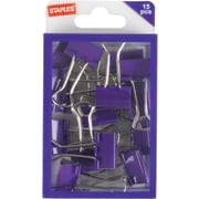 Staples® Small Binder Clips, Purple, 15ct