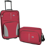 American Tourister Fieldbrook 2 Piece Luggage Set, Red