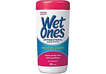 Wet Ones® Antibacterial Hand Wipes, 40 Wipes/Tub