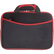 "Digital Treasures 08490 Microsuede Case for 10"" Apple iPad, Black/Red"