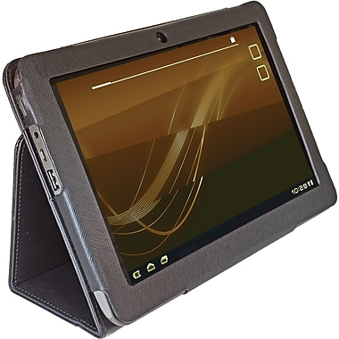 Digital Treasures 08439 Faux Leather Folio Case for Acer Tablet, Black