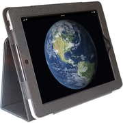 Digital Treasures 08003 Leather Folio Case for Apple iPad, Black