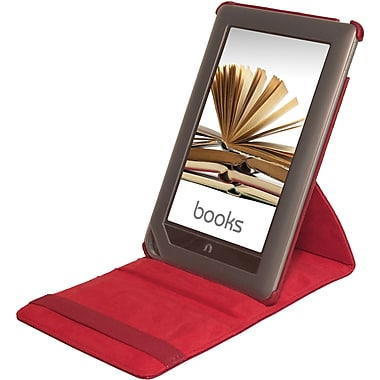 Digital Treasures® Props Pivot Case For Nook Tablet and Nook Color, Red
