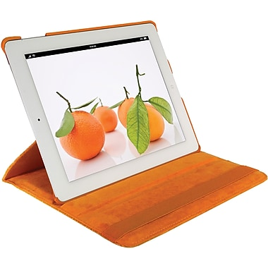 Digital Treasures® Props Pivot Carrying Case For New iPad 3, Tangerine Tango