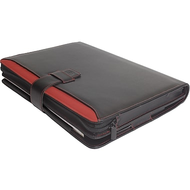 Digital Treasures® Props 13.3in. Padfolio Case For Ultrabook, Black/Red