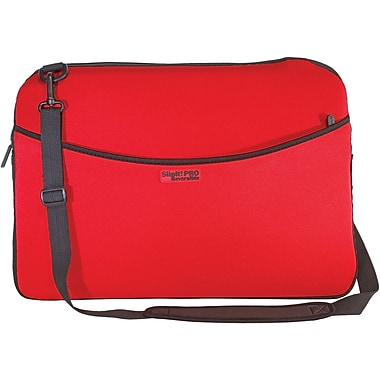 Digital Treasures® SlipIt! Pro Reversible 17in. Notebook Case, Red