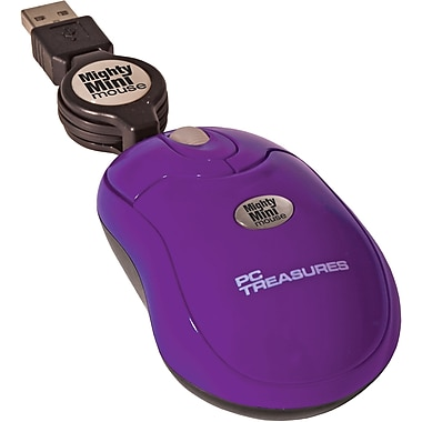 Digital Treasures® Retractable Mighty Mini Mouse, Purple