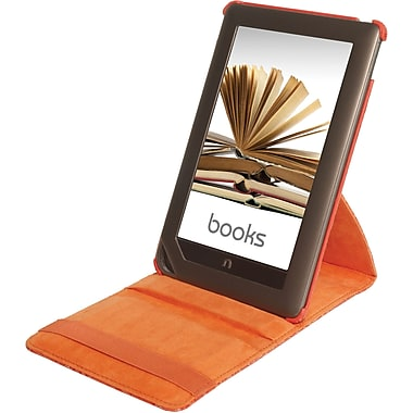 Digital Treasures® Props Pivot Case For Nook Tablet and Nook Color, Tangerine Tango