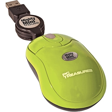 Digital Treasures® Retractable Mighty Mini Mouse, Green