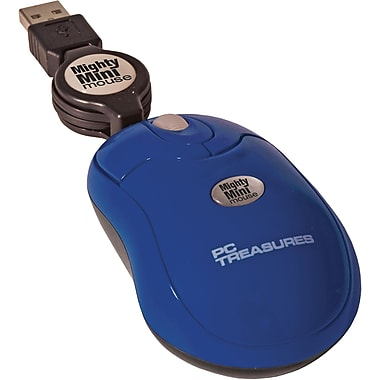 Digital Treasures® Retractable Mighty Mini Mouse, Navy