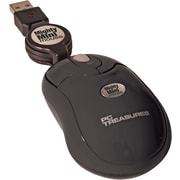 Digital Treasures® Retractable Mighty Mini Mouse, Black
