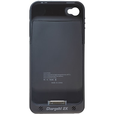 Digital Treasures® ChargeIt! 2X iPhone Case For iPhone 4/4S, Black
