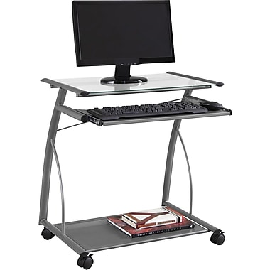 Staples Easy2Go Metal and Glass Computer Cart