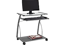 Staples® Easy2Go Metal and Glass Computer Cart