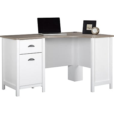 Ameriwood Dover Desk, Federal White/Sonoma Oak