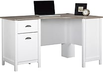 Ameriwood® Dover Desk, Federal White/Sonoma Oak