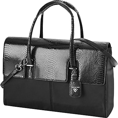 Francine Collection London Computer Bag for 15.6in., Python Black