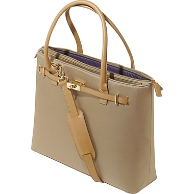 WIB Thoroughbred Textured Nylon with Leather Trim Tote, Tan