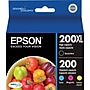 Epson 200XL/200 Black & Color Ink Cartridges (T200XL-BCS),