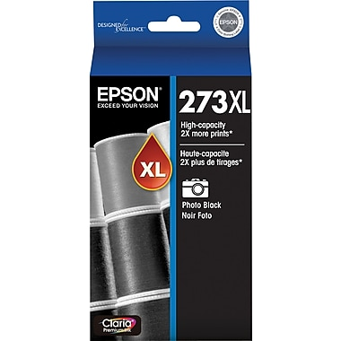 Epson 273XL Photo Black Ink Cartridge (T273XL120-S), High Yield