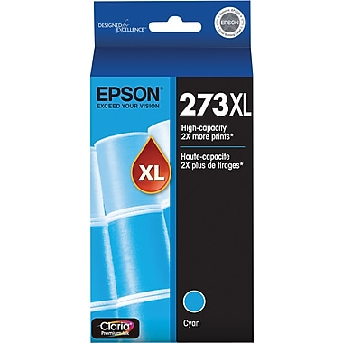 Epson 273XL Cyan Ink Cartridge (T273XL220-S), High Yield