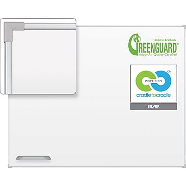 Best-Rite Ultra Trim Magnetic Dry-Erase Board with Silver Frame, 5' x 3'