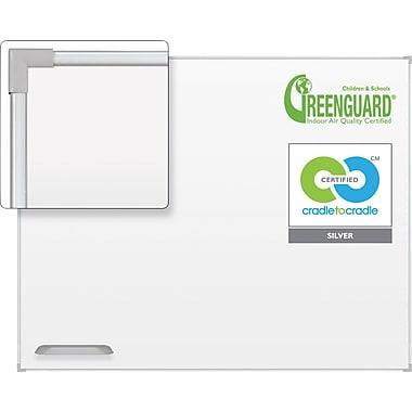 Best-Rite Ultra Trim Magnetic Dry-Erase Board, Silver Frame, 5' x 3'