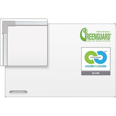 Best-Rite™ Ultra Trim Magnetic Dry-Erase Board with Silver Frame