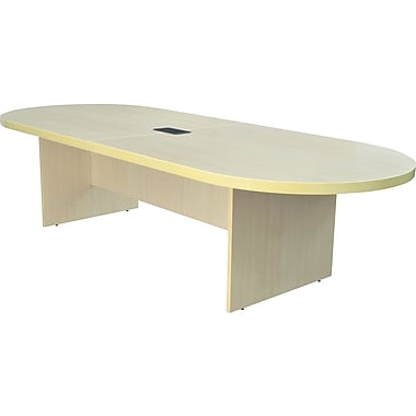 Legacy 120in. Racetrack Conference Table with Power and Data Grommet, Maple