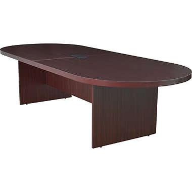 Legacy 120in. Racetrack Conference Table with Power and Data Grommet, Mahogany
